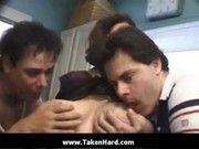 Толстая русская волосатая мамаша и внук